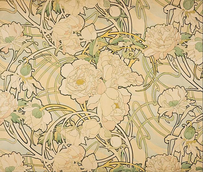 Alphonse_Mucha_-_Peonies 1898
