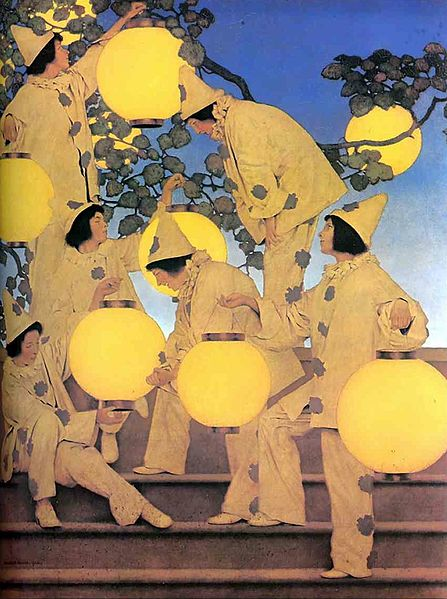 Maxfield_Parrish--The_Lantern-Bearers,_1908
